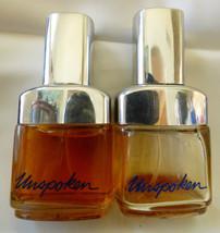 VTG 1977 Set of 2 Avon Unspoken Ultra cologne spray bottles 1.8 oz ea - $29.70