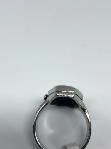 Vintage Large Stainless Steel Cross Crest Coffin Size 10 Men's Ring