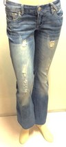 Ariya Jeans 3/4 Blue Curvy Fit Factory Distressed Flare - $12.19