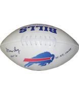 Marv Levy signed Buffalo Bills Logo TB Football dual HOF 01 & 4X AFC Champs - £59.30 GBP