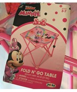 "Disney Junior Minnie Mouse Portable Fold N' Go Table Indoor/Outdoor 12"" ... - $20.00"