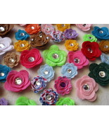 30 Assorted Random Mix Felt 3D Flowers-Small an... - $17.00