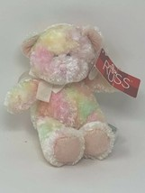 "Russ Plush Teddy Pastel Boobear Soft Rattle Stuffed Animal Toy Washable 6"" Mini - $8.45"