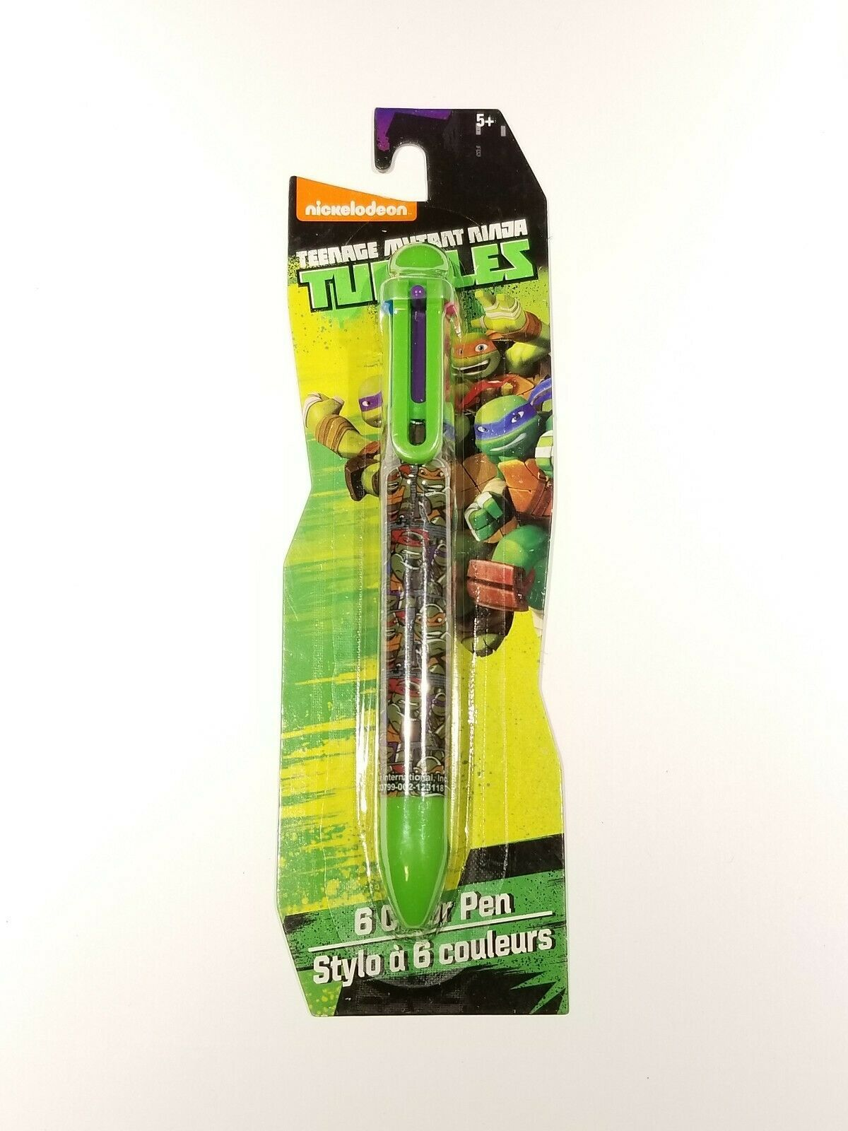 Nickelodeon Teenage Mutant Ninja Turtles 6 COLOR Ball Point Ink Pen  - NEW