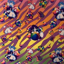 PRECIOUS Vintage Lisa Frank Kittens Playing IN Balloons Stickers S215 EARLY 90s image 2