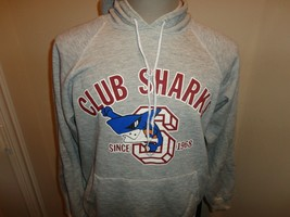 Vtg 90's Hanes Rayon TriBlend Club Sharks Hooded Hoodie 50-45-5 Sweatshi... - $43.07