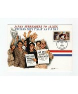 """FDC  POSTCARD-""""NEWS OF VICTORY HITS HOME""""-JAPAN SURRENDERS-FLEETWOOD CAC... - $1.96"""