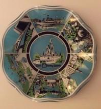 Vintage Walt Disney World Magic Kingdom Souvenir Candy Dish Nut Bowl Ruffled - $16.82