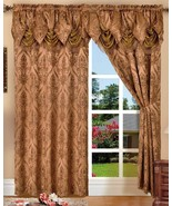 SET OF 2 PENELOPIE CURTAIN PANELS WITH ATTACHED AUSTRIAN VALANCE 84 inch... - $32.98