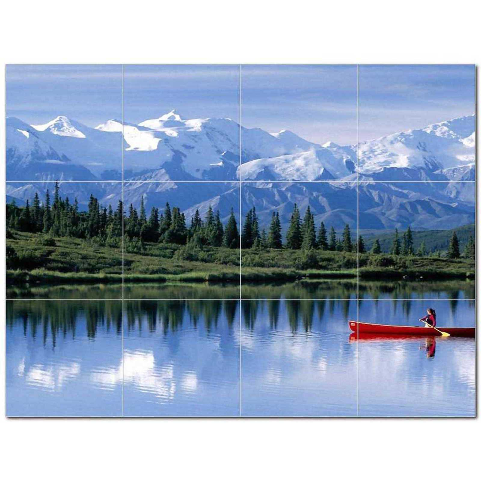 Primary image for Lake Scene Ceramic Tile Mural Kitchen Backsplash Bathroom Shower BAZ405401