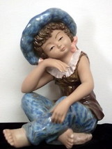 Tengra Spain Large Porcelain 'Pensive Girl' Figurine - $36.63