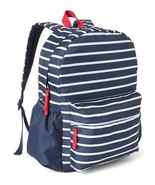 Gap Kids Boys Backpack Navy White Striped Padded Adjustable Straps Front... - $39.59