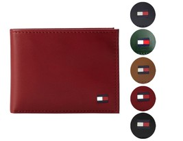 Tommy Hilfiger Men's Premium Leather Credit Card ID Wallet Passcase 31TL22X046