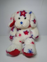 Build A Bear Stars Plush Puppy Dog Stuffed Red White Blue USA Patriotic ... - $13.76