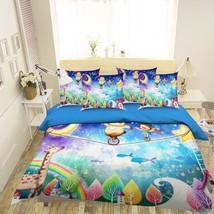 3D Moon Bear Sky 26 Bed Pillowcases Quilt Duvet Single Queen King US Lemon - $102.84+