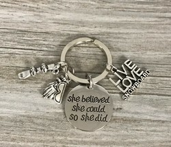 Snowboarding She Believed She Could So She Did Keychain, Snowboarding Gift - $11.99