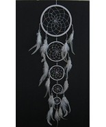 OMA Dream Catcher - Large Traditional Dream Catcher with White Feathers ... - $19.33