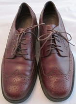Rockport Men's Brown Leather Wingtip Brogue Oxford Lace Up Oxford Shoes 8 1/2 M - $39.59