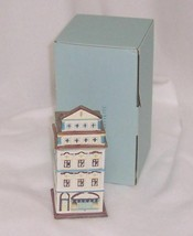 PartyLite Cafe Amsterdam Tealight House Exquisitely Detailed Porcelain P... - $14.95