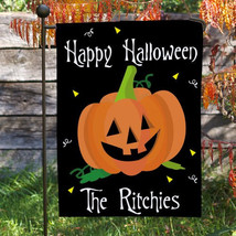 Personalized Pumpkin Garden Flag-Personalized Halloween Garden Flag - $24.95