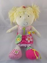 "Manhattan Toys Teach Me to Dress Plush Doll Blonde 14"" Stuffed - $11.81"