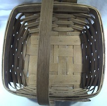 "Vintage 1987 Large Longaberger Berry Basket 8.5""x8.5""x5"" - $24.95"