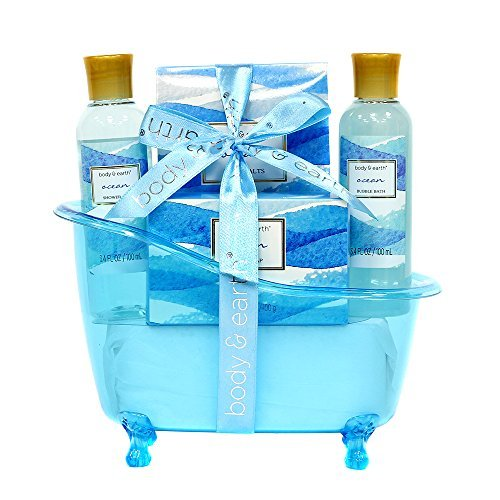 Spa Gift Baskets for Women, Body & Earth Bath Gift Set with Tub, Gifts for Her,
