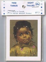 Vintage Cardboard Bridge Tally Score Cards Native Children - $2.84