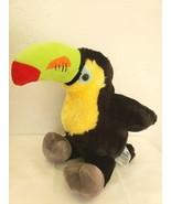 "Build A Bear Toucan 14"" Tropical Bird Black Green Beak Plush Stuffed Animal BAB - $24.73"