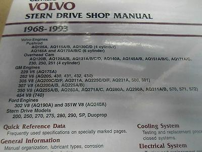 1968-1993 Clymer Volvo Stern Drive Service Shop Reparatur Manuell B770 Neu image 3