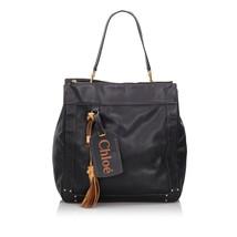 Pre-Loved Chloe Black Others Leather Eden Tote Bag France - $377.74