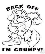 """Disney Grumpy """"Back Off"""" Cartoon Vinyl Decal Sticker 6 INCH - $5.00"""
