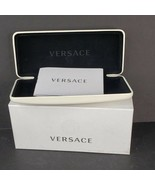 Versace Eyeglasses Case Presentation Box and COA Insert White w/ Black V... - $29.99