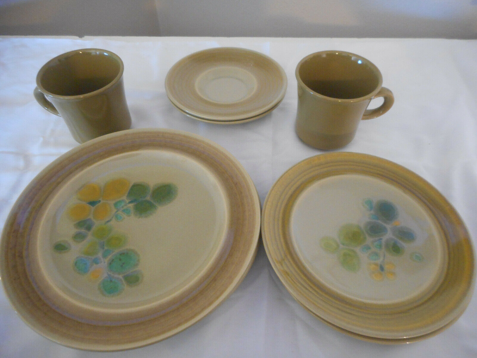 Primary image for Vintage MCM 8 piece Franciscan Pebble Beach lunch set