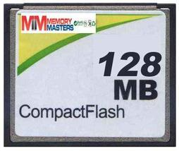 MemoryMasters 128MB CompactFlash Card - Standard Speed (p/n CF-128MB) - $7.76