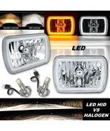 7x6' Switchback White Halo Amber Blinker H4 LED Headlamp For Jeep Wrangl... - $199.95