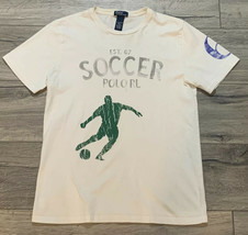 Vintage Polo Ralph Lauren Soccer Size Youth XL White Fits Men's Small - $24.99