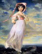 "11 x 14"" canvas art print~ Pinkie, by Thomas Lawrence dated 1794. - $23.99"