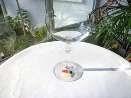 Fostoria 6113 Plain Petal Stem Clear Crystal Champagne Glass c1969-1972 - $9.90