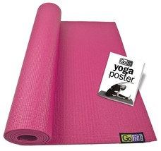 Yoga Mat, Pink Non-slip Gym Pilates Home Indoor Floor Mat Exercise - $35.99