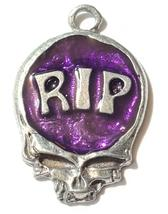 RIP Skull Fine Pewter Pendant Approx. 1 5/8 inches tall image 8