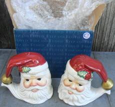 Fitz & Floyd Omnibus Christmas Santa Salt & Pepper Shakers - $16.00