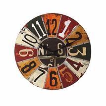 PANDA SUPERSTORE Retro Nostalgia Wooden Dial Wall Clock Vintage Look Home Decora