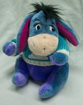 "Disney Store Winnie the Pooh EEYORE W/ WINTER SWEATER S 6"" Plush Stuffed... - $14.85"
