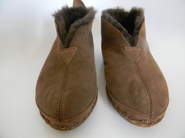 LL Bean Womens Dark Brown Moccasin Shearling Sheepskin Lined Slippers Si... - £23.34 GBP