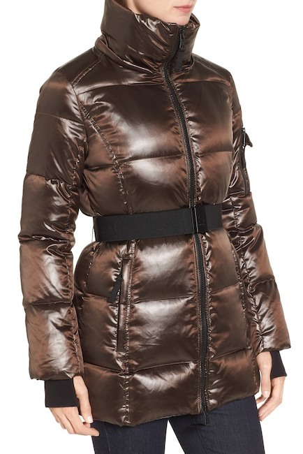 Primary image for S13/Nyc Nicky Quilted Coat with Faux Fur Trim Hood Small