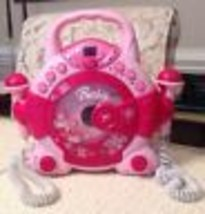 Barbie Sing-A-Long Kid's Karaoke with 2 Microphones - RARE, Emerson, BAR504 - $17.10