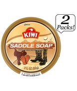 2x KIWI SADDLE SOAP Wax Cleans, Softens & Preserves Smooth Leather 3-1/8... - $9.99
