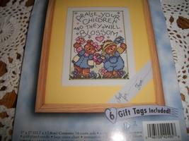 Stamped Cross Stitch Kit~Bucilla 42495-Children Blossom - $10.00