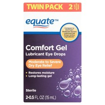 Equate Comfort Gel Lubricant Eye Drops, 0.5 fl oz, Twin Pack - $14.44